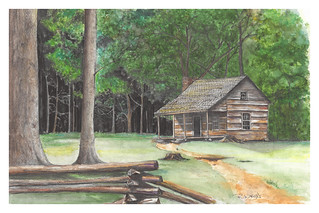 Carter Shield Cabin Painting
