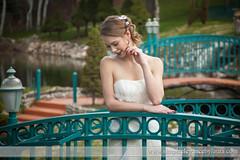 Shy Bride on a Bridge (Laura K Bellamy) Tags: bride bridals portraits woman wedding weddings