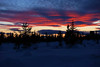 Straw and Red Silhouette (gooey_lewy) Tags: sweden sunset arctic snow light sun colour scene twilight horizon beauty beautiful norbotton norbotten vidsel mountain scandinavia gold golden sky tree trees cloud silhouette