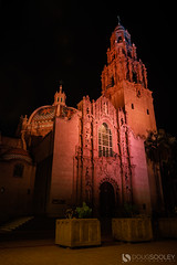 The California Building (dougsooley) Tags: balboapark california cali sandiego thecaliforniabuilding balboa canon canon1dx canonlenses canonlens dougsooley night nightshooting nightphotography nighttime citynight city longexposure longexposures building architecture sky tree
