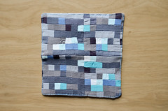 Cover of Diamond Ore Fabric Checkbook Cover (osiristhe) Tags: nikond5100 18200mm quilting sewing needlework minecraft
