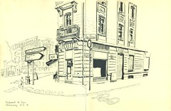 Boulevard de Lyon - Strasbourg (lolo wagner) Tags: croquis sketch strasbourg usk urbansketchers