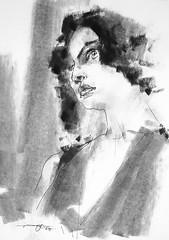 P1018272 (Gasheh) Tags: art painting drawing sketch portrait girl line pen charcoal gasheh 2018
