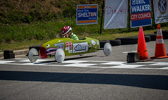 Carson crosses the finish line. (donnieking1811) Tags: tennessee cookeville 2018soapboxderby carson finishline racecar canon 60d lightroom outdoors competition