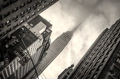 Up to the sky (Maya K. Photography) Tags: empirestatebuilding empire building architecture monochrome monochromephotography streetsofmanhattan manhattan blackandwhitephotography blackandwhitephoto blackandwhite buildingcomplex newyorkphotography newyorkstreetphotography newyorkcity newyork usa us unitedstatesofamerica ny nyc clouds mayak mayakphotography nikond5000 nikon flickr skyscraper