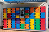 Colourful protection whilst away (Sgt Morgan) Tags: colourful boxes colorful lockers locks personalitems protection secure security shortterm surfersparadise queensland australia
