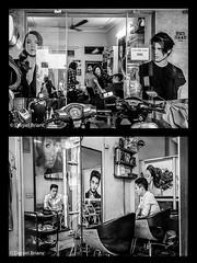 Vietnam  #17 - 045.jpg (Daniel Brianc) Tags: homme coiffeur affiche miroir fille moto vietnam