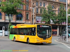 Trent Barton 735 - FJ09 BXP (Cymru Coastliner) Tags: trentbarton volvob7rle wrighteclipse 735 fj09bxp bus nottingham wellglade mango