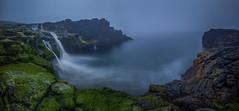 Dunseverick Falls (Donald L.) Tags: green lush moss ireland ocean sea coastline rock falls dunseverick