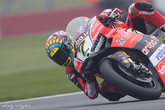 Chaz Davies #7 (FocusedWright) Tags: wsbk worldsuperbike bike bikes motorbike motorcycle race racing track tracks uk england donington doningtonpark wet rain fog cold chaz chazdavies 7 2018