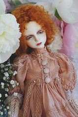 Sweetheart Peony (AyuAna) Tags: bjd ball jointed doll dollfie ayuana design minidesign handmade ooak clothing clothes dress set outfit gown vetement fashion couture sewing sewingfordolls sd sd10 sd9 boy girl unisex fantasy style glorydoll louis normalskin