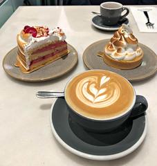 2018 Sydney: Afternoon Tea (dominotic) Tags: 2018 food dessert afternoontea cake coffee raspberrymeringue lemonmeringue iphone8 sydney australia