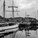 Goelette Belle-Poule and La Malouine, Liverpool Tall Ships Festival 25.5.18 (bobbex) Tags: bw blackandwhite blackwhite mersey merseyside liverpool albertdock tallships tallship boat ship sail
