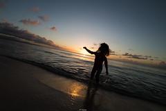 Sunset Fun (Tiomax80) Tags: sunset fun beach having love babygirl silhouette sun sand island caribbean sea girl backlight sky ocean holidays gwada guadeloupe nikon d610 samyang 14mm uga uwa france tiomax havingfun hair water reflection contrast light dawn dusk blue set clouds playa holiday anse souffleur portlouis ansebertrand endoftheday