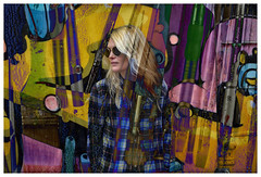 Alison Mosshart (oscarinn) Tags: alisonmosshart mexico painting paint pinturas exhibit galeria music makers portrait retrato texture brushes