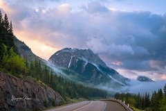 One Lovely Morning (Margarita Genkova) Tags: road mountain clouds fog mist nature landscape canada alberta rockymountains sunrise