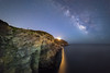 On The Edge (Vianney Rudent) Tags: nikon hyeres hyères astro astrophotography voielactée milkyway stars samyang presquiledegiens giens cliff falaise cotedazur frenchriviera france composition méditerranée mediterranean sud var paca night lightpainting etoiles 14mm nikond610 starry stargazing