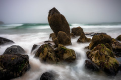 Effort Rewarded (Augmented Reality Images (Getty Contributor)) Tags: longexposure portsoy coastline scotland seastack fog landscape nisifilters waves water morayfirth canon rocks seascape clouds boyndie unitedkingdom gb