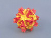 Le Feu (masha_losk) Tags: kusudama кусудама origamiwork origamiart foliage origami paper paperfolding modularorigami unitorigami модульноеоригами оригами бумага folded symmetry design handmade art