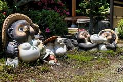 Ceramic tanuki figures (Greg Peterson in Japan) Tags: koka 滋賀県 shiga japan 甲賀市 shigaprefecture