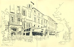 Cours Mirabeau - Aix-en-Provence (lolo wagner) Tags: rencontre usk france aixenprovence croquis sketch sketchcrawl