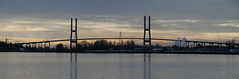 Alex Fraser Bridge (D70) Tags: alex fraser bridge panorama river the also known annacis is cablestayed over that connects richmond new westminster with north delta greater vancouver british columbia named for 1916 – 1989 former minister transportation olympus c2100uz stitched