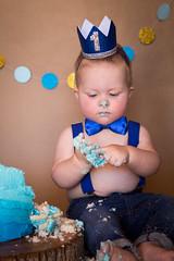 Kenny's First Birthday Cake Smash (heathervermeys) Tags: baby boy birthday blue handsome chub cake celebrate