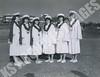 635- 5354 (Kamehameha Schools Archives) Tags: kamehameha archives ksb ksg ks oahu kapalama luryier pop diamond 1953 1954 1st parade sponsors rotc military uniform veronica wong leialoha oili lo greenleaf gun betty mae freitas