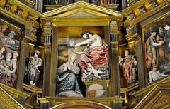 Astorga (León-España). Catedral. Retablo Mayor de 1584, obra de Gaspar Becerra. Coronación (santi abella) Tags: astorga león castillayleón españa catedraldeastorga retablos