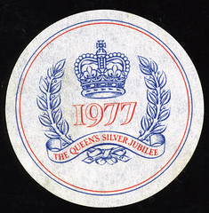 Beer Coaster from The Queens Silver Jubilee 1977,,, (iEagle2) Tags: coaster 1977 queenssilverjubilee