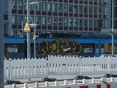 NOSK (mkorsakov) Tags: münster hbf bahnhof mainstation zug train re15 graffiti piece bunt colored nosk buffed