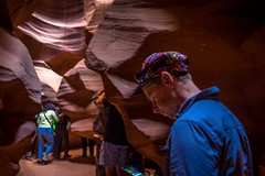Andrew enjoying the sights in Antelope Canyon