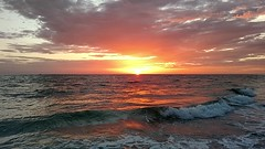 Sunset, North Point, Anna Maria Island Florida, Video (wesbird72) Tags: beach sunset red orange annamaria annamariaisland northpoint water waves wave sun cloud clouds cloudy sound sounds sounding froth foam foamy gulf gulfofmexico