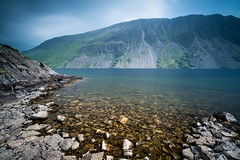 Wast Water and it's screes (davidglossop) Tags: benro wideangle scenery turquoise clouds england cumbria detail d850 nikon polarised leefilters screes rocks spring landscape longexposure wastwater lakedistrict lake blue water