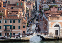 Early Morning Venice (Julian Chilvers) Tags: canal landscape bridge reflection italy venice water house building