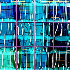 Crosshatch Multicolor Reflection (2n2907) Tags: vibrant colorful reflection glass window abstract canon t4i building digital dslr