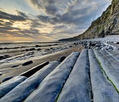 Pencil Skirt (pauldunn52) Tags: beach cwm nash point glamorgan heritage coast wales cliffs shore platforms pebbles
