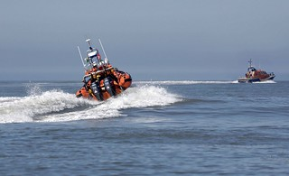 Porthcawl's Atlantic 85 and The Mumbles Lifeboat