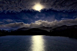 ForgetMeNot Moon and clouds