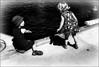 Tentation / Temptation (vedebe) Tags: enfant enfants noiretblanc netb nb bw monochrome humain human ville city rue street