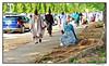 side street pedestrian (harrypwt) Tags: harrypwt nigeria africa framed samsungs7 s7 abuja sallah costumes street
