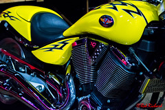 Victory 100 Cubic Inch (red.richard) Tags: victory motorcycle yellow v twin chrome