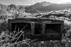 Whatsit #24 (dwblakey) Tags: blackandwhite bishopcreek sierranevada bishop intake2 rust junk california summer inyonationalforest monochrome easternsierra rusty outdoors inyocounty history mountains intakeii unitedstates us