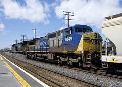 CSXT 7849 (Michael Berry Railfan) Tags: ac4400cw csxt145 dash840cw csxt7849 dorval montreal montrealsub quebec train freighttrain ge generalelectric csx csxmontrealsub cn327