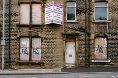 Development Opportunity 005 (Peter.Bartlett) Tags: minoltax700 window portra400 facade doorway film colour lunaphoto urban uk westyorkshire wall kirklees urbanarte huddersfield unitedkingdom peterbartlett door