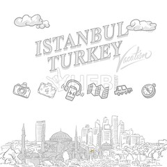 Istanbul travel marketing cover (Hebstreits) Tags: ancient architecture background bosphorus bosporus building byzantine city cityscape constantinople cover design drawing drawn earphones elements famous galata hand headline historic history illustration islam islamic istanbul landmark landscape map marketing monument mosque ottoman panorama panoramic photo postcard set sketch skyline tourism tower travel turkey turkish vacation vector view