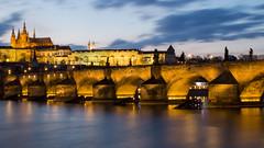 Blue hour view of Prague Castle (HansPermana) Tags: prague prag czech czechrepublic tschechien eu europe europa march 2018 spring city cityscape oldtown praguecastle vltava river bluehour longexposure lights reflection