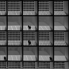 roof (morbs06) Tags: erasmusuniversityrotterdam paulderuiterarchitects rotterdam abstract architecture building city geometry glazing light lines pattern repetition roof shading shadow shed square stripes texture university pvs grey bw