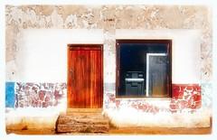 Flaky Wall (Daniela 59) Tags: wall wednesdaywalls flaky textures peelingpaint door window abandoned old kamieskroon northerncape southafrica danielaruppel