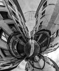 Strolling in the streets (lavignassey) Tags: grenoble fisheye